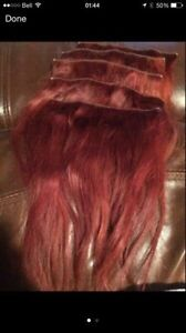 5 pieces of 12'' real red hair extensions St. John's Newfoundland image 2