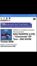 Bag Raiders 2 x Tickets Wetherill Park Fairfield Area Preview