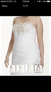 Davids bridal wedding dress. Sz 16
