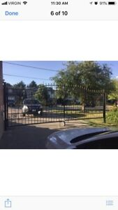 Gate custom iron fence- 15'wide can be cut to smaller
