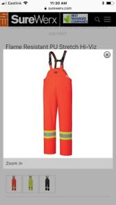NEW with tags! Flame Resistant Hi-Vis stretch bib overall - 2XL