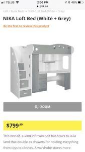 Loft style bed