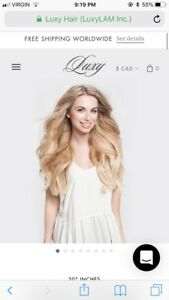 Luxy hair blonde balayage hair extensions