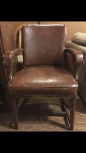 Antique sturdy wide chair