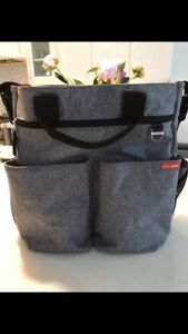 Skip Hop Heather Grey diaper bag