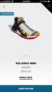 """Adidas human race NMD """"Solar Pack Red"""" size 10"""