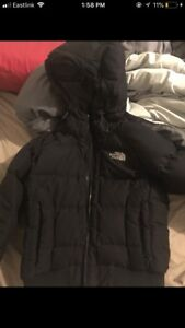 Women's north face down filled jacket