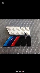 BMW M Logo Schriftzug Emblem Plakette 1 3 4 5 6 7 E Z X M3 M5 M6 Schwarz Matt.