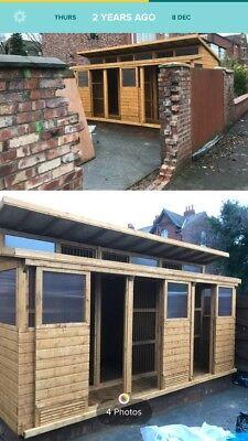 18 x 8ft 2 Tier Roof Pigeon Loft