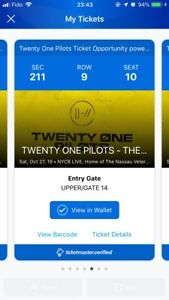 TWENTY ONE PILOTS TICKETS FOR UNIONDALE