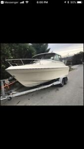 1980 bayliner 470 mercruiser needs water pump good fishing boat