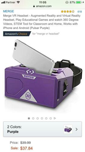 Merge VR Headset 150 pcs - Augmented Reality and Virtual Reality Headset