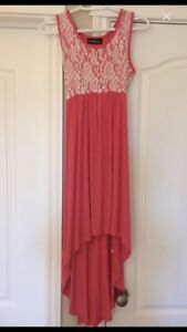 Hi-low Maternity Dress (size small, coral colour)