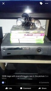 Xbox 360 with games and remote 120gb