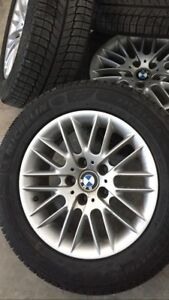 For sale: BMW 5-Series rims with brand new Michelin X-Ice tires