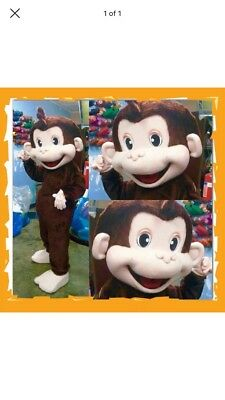 Curious George Monkey Mascot Costume Party Character Kids Birthday - Children's Character Costumes