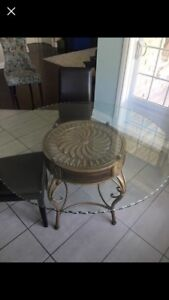 Beautiful round glass table