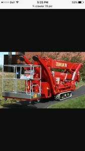 2011 78ft cmc spider lift for sale  $70,000