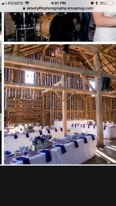 Purple Burlap Tables Runners Perfect for Wedding