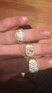 3 men's rings