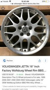 Looking to purchase a set of 4 factory Volkswagen BBS rims