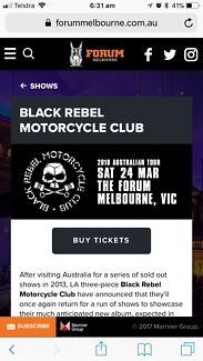 Black Rebel Motorcycle Club ticket
