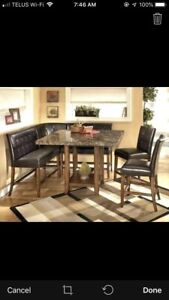 Bar height dining room set