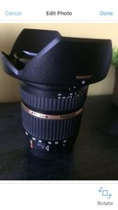 Tamron 10-24 mm wide angle lens