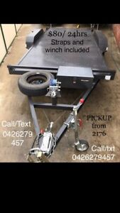Car trailer for hire- pick up 2176