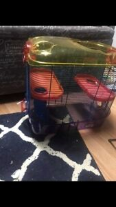 Hamster cage and tons of accessories!