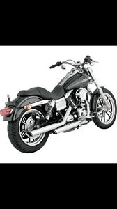 "VANCE & HINES 3"" ROUND SLASH SLIP-ON MUFFLERS"
