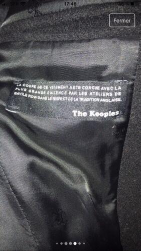 Manteau the kooples taille 44 noir excellent etat avec ceinture