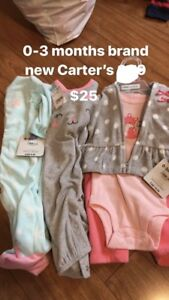 Carter's 0-3 months brand new tags attached
