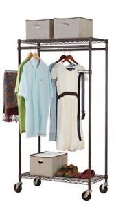 (Two) Rolling racks for clothing/jackets