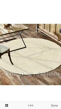 Hampton bleached white braided round floor rug 200x200 NEW with tags Maryland 2287 Newcastle Area Preview