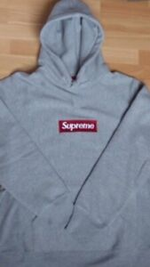 f6ade9745a576 LIGHT GREY SUPREME BOX HOODIE! 100% authentic.