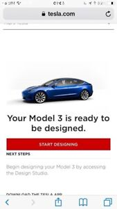 Tesla model 3 reservation ready to order now