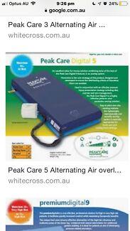 Peak Care 5 Alternating Air Overlay Pressure Mattress Elderly Jamberoo Kiama Area Preview