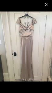 Gold or champagne size small PROM dress