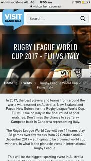 2 tickets to Rugby World Cup