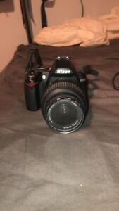 Nikon D3000 With Camera Bag & 3 Lenses