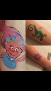 Face painting and Sparkle tattoos