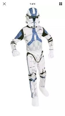 Star Wars Child's Clone Trooper Costume Small 4-6 for 3-4 years Old W: Mask - Clone Costumes For Kids