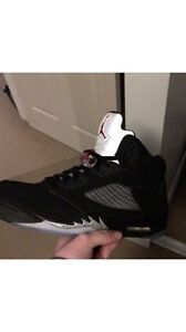 Jordan 5 black metallic sz 10