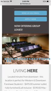 One room for lease