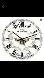 Oversized Honey Bee Wall Clock