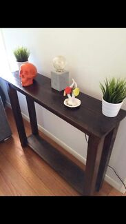 Recycled timber hall stand