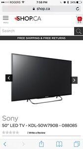 "Sony Bravia 50"" 3D Smart tv"