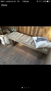 Hand made recycled timber bench seat Elanora Heights Pittwater Area Preview