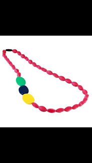 Necklace silicone safe for teething babies  Brand new